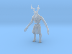 Wendigo monster 1/60 miniature for games and rpg in Smooth Fine Detail Plastic