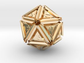 Dice: D20 edition 5 in 14K Yellow Gold