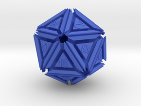 Dice: D20 edition 5 in Blue Processed Versatile Plastic