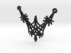 :Spiderweb: Pendant in Black Acrylic
