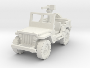 Jeep willys 30 cal (window up) 1/120 in White Natural Versatile Plastic