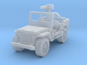 Jeep willys 30 cal (window up) 1/144 in Smooth Fine Detail Plastic
