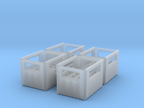 Bottle Crate (4 pieces) 1/87 in Smooth Fine Detail Plastic