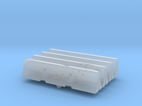 Jersey barrier (x4) 1/72 in Smooth Fine Detail Plastic