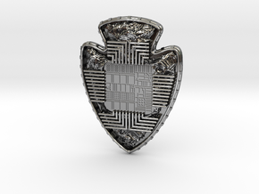 Silicon Innovations Of The Ages Pendant in Antique Silver