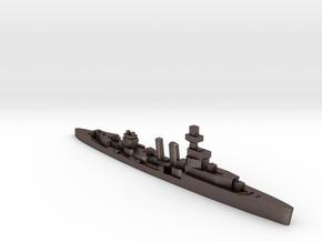 HMS Curlew 1939 1:1800 WW2 cruiser in Polished Bronzed-Silver Steel