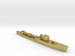 Italian Procione WW2 torpedo boat 1:3000 in Natural Brass