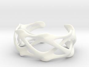 CLAVICLE CUFF in White Processed Versatile Plastic: Large
