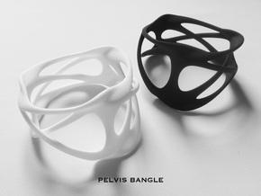 PELVIS BANGLE in White Processed Versatile Plastic