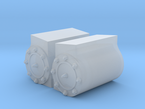 Peckett W4 Cylinder Shrouds in Smooth Fine Detail Plastic
