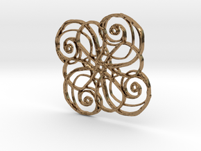 :Nature Dance IV: Pendant in Natural Brass
