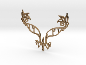 :Eyespell: Pendant in Raw Brass
