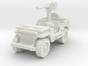 Jeep Willys 50 cal (window down) 1/100 in White Natural Versatile Plastic