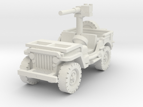 Jeep Willys 50 cal (window down) 1/56 in White Natural Versatile Plastic