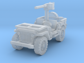 Jeep Willys 50 cal (window down) 1/144 in Smooth Fine Detail Plastic