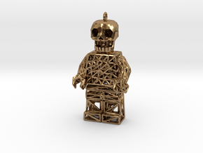Los Muertos Lego Man Solid Head in Raw Brass