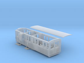 Ffestiniog Rly 1st/brake coach NO.11 in Smooth Fine Detail Plastic