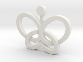 Custom Logo Lapel Pin in White Natural Versatile Plastic
