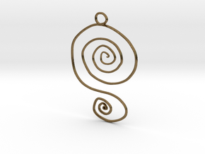:Spiral Swirl: Pendant in Natural Bronze