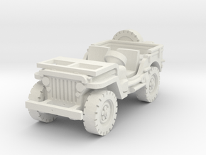 Jeep willys (window down) 1/76 in White Natural Versatile Plastic
