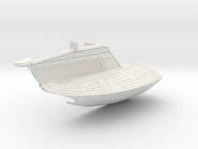 1/1400 USS Ambassador proposal Left Secondary Hull in White Natural Versatile Plastic