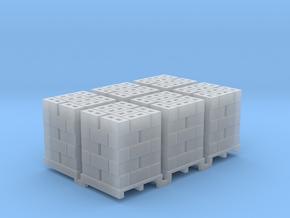 Pallet Of Cinder Blocks 5 High 6 Pack 1-87 HO Scal in Smooth Fine Detail Plastic