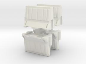 Interlocking traffic barrier (x4) 1/48 in White Natural Versatile Plastic