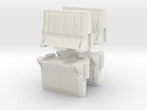 Interlocking traffic barrier (x4) 1/35 in White Natural Versatile Plastic