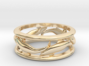 DolphinPathRing in 14K Yellow Gold