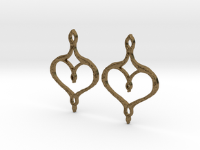 :Perfect Valentine: Earrings in Natural Bronze