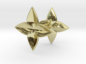 Symetric Clover Earring set in 18K Yellow Gold