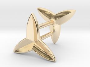 Fleur De Lys Earring set in 14K Yellow Gold
