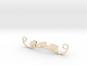 Elephant Line Pendant in 14K Yellow Gold