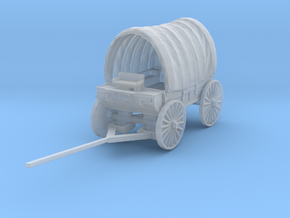 N Scale Covered Wagon in Smooth Fine Detail Plastic