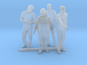 O Scale Standing Men 2 in Smooth Fine Detail Plastic