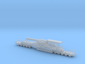 french 320mm railway artillery alvf 1/144  in Smooth Fine Detail Plastic
