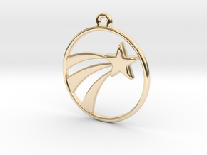 A Lucky Pendant of a   Shooting Star  in 14K Yellow Gold