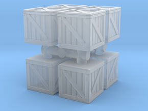Wood crate prop (x8) 1/285 in Smooth Fine Detail Plastic