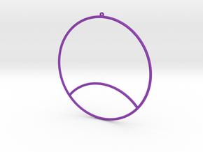 3D EARRING in Purple Processed Versatile Plastic