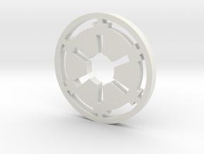 Galactic Empire Symbol Blade Plug Insert in White Natural Versatile Plastic