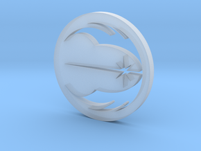 Jedi Symbol Blade Plug Insert in Smooth Fine Detail Plastic