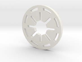 Galactic Republic Symbol in White Natural Versatile Plastic