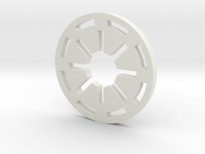 Galactic Republic Symbol in White Natural Versatile Plastic