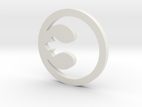 Rebel Symbol in White Natural Versatile Plastic