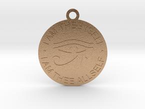 "Self Realization Pendant 1.5""  in Natural Bronze"