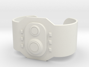 Wrist Comm in White Natural Versatile Plastic