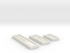 Republic Credit Set in White Natural Versatile Plastic