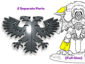Eagles: Twin Knight Insignias (Shoulder/Shin) in Smooth Fine Detail Plastic