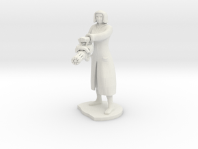 Female Mini gunner  in White Natural Versatile Plastic