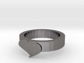 Cute Heart Ring in Polished Nickel Steel